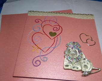 Embroidered greeting card and 3D 735