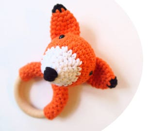 Fox - rattle & teether