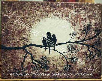 Three Little Birds - Original Acrylic Painting Art Print