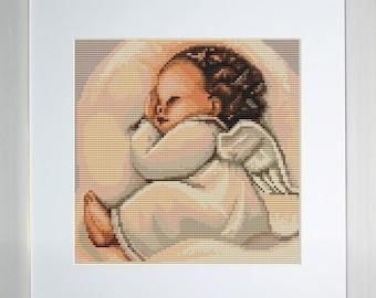 Cross Stitch Kit Sleeping Angel