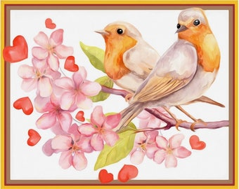 Diamond painting kit Birds