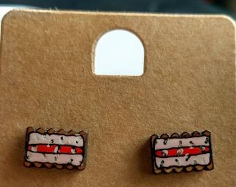 Iced Biscuit stud earrings