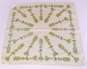 Small 1950s Silk Scarf by Dorville