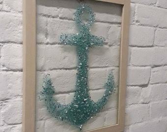 Anchor Glass Art Frame