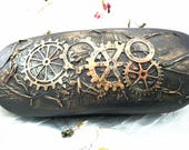Glasses Case Hard Inspired by Steampunk - Upcycled Case