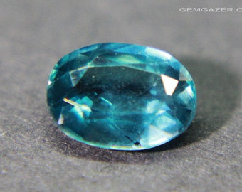 Teal blue Kyanite, faceted, India. 1.51 carats