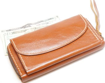 leather zipprt wallet for women, leather wallet clutch, leather wallet with coin pouch, card holder wallet,leather long wallet