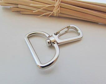 2 snap for bag of 25 mm - silver - ref 18.9 handle