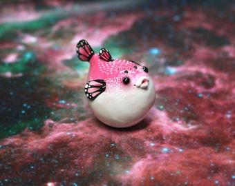 Butterfish Polymer Clay Figurine