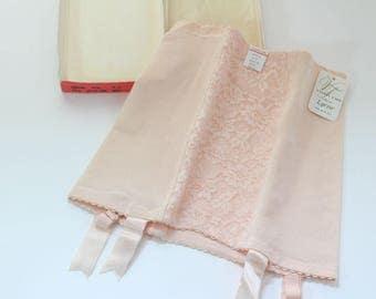 Vintage Vanity Fair Girdle with Box, Petal Pink, Style 51-21, Medium, Brand New in Box, Vintage Lingerie