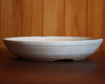 Shallow cream 29cm bonsai pot or succulent planter