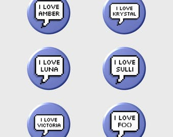 """f(x) """"I LOVE"""" Pixel Button+ (Select Style/Choice)"""