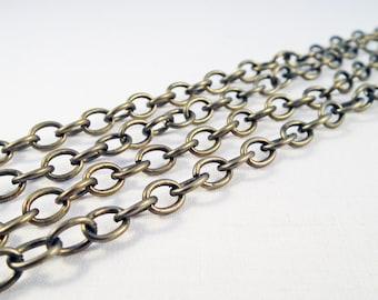 Ch12 - 1 M chain Bronze mesh 6.85 mm X 5 mm