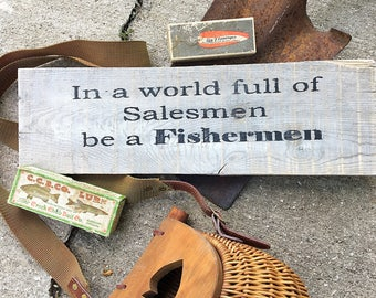 Fishermens sign, Father's Day gift, gift for dad, fishermens gift, Fishing decor, Fishing sign, cabin decor, Fishing gift,