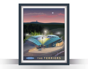 Huddersfield Town Travel Poster - 'the Terriers'