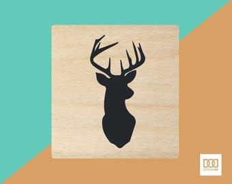 Deer - 3cm Rubber Stamp (DODRS0112)