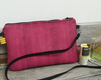 """The Moon, my purse """"pink croco"""" pouch"""