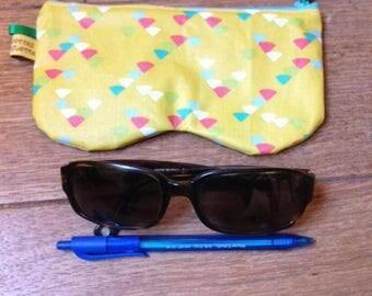 """Flat clutch / """"seventie's"""" glasses case"""