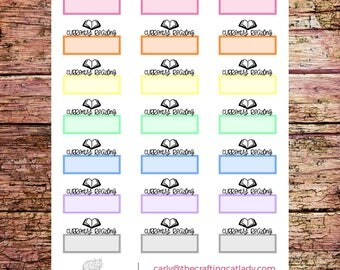Multicolor Currently Reading Planner Stickers | To Read Stickers | Book Stickers | Study Stickers