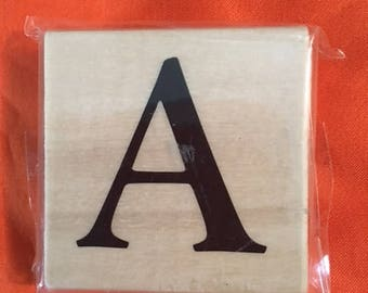 Letter A Wood Stamp