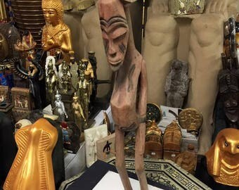 """Vintage Unique African Art Hand Carved Wood Made In KENYA""""Collectibles"""""""
