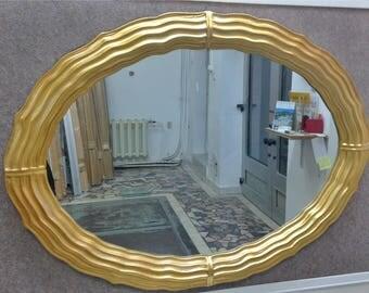 M18 Antique Solid Wood Mirror