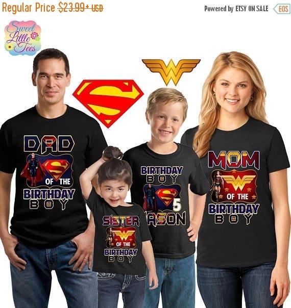 15 Off Superman Shirts Wonder Woman Shirt And Super Hero Birthday Boy Family Matching