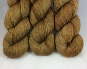 Hand Dyed Yarn - Hand Painted - Not So Drab - Silky Yak - 120 gram skein - Dyed to Order
