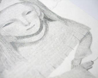 Fine thread • Original drawing