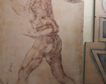 Male nude from Michelangelo Buonarroti