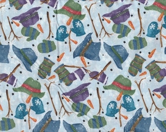 Creature Comforts - Per Yd - Clothworks - Barb Tourtillotte - Hats Mittens on Lt Blue