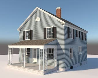 Build your own 1680 sqft 2 story 4-bedroom Farm House (DIY Plans) Fun to build!