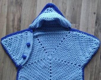 Newborn Baby Star Cocoon, Crochet, Sleep Sack, Bunting, Photo Prop