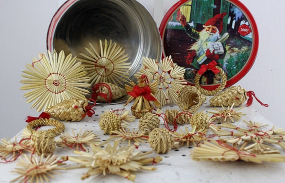 German Straw Christmas Ornaments Make Or Buy Them