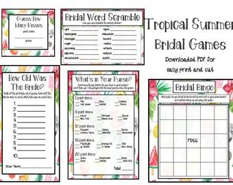 Tropical Fruit Bridal Shower Games