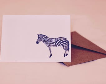 Zebra Handmade Stationery