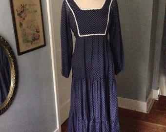 1970's bohemian maxi dress