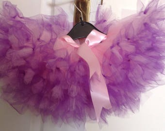 Pink and purple tulle tutu