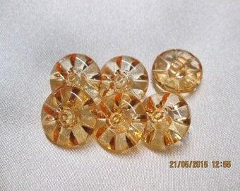 6 transparent orange buttons