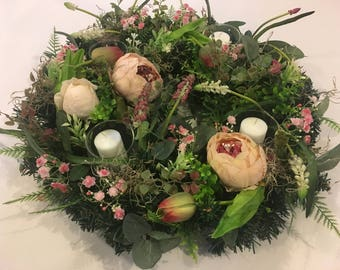 Table wreath, spring wreath