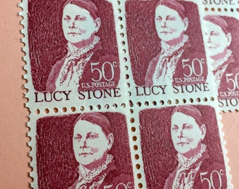 Unused Vintage Postage Stamp Set - 1 set of 16 Lucy Stone Stamps 50 cents each - Use either alone to with other like vintage stamps