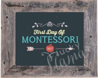 Montessori First Day Sign/Prop - Instant Download