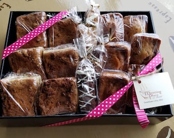 Office Gift Basket w/ homemade baked goods, pumpkin bread, Thank You Gift Basket, Hostess Gift, Corporate Gift with biscotti