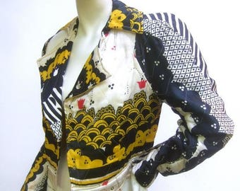 Amazing Ossie Clark Couture Quilted Satin Jacket. Late 1960's.