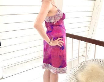 Magentalicious: Hand-Dyed Slip Dress