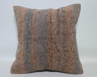 Handwove Kilim Pillow Boho Pillow 16x16 Decorative Kilim Pillow Ethnic Pillow Throw Pillow Bohemian Kilim Pillow Cushion Cover SP4040-4179