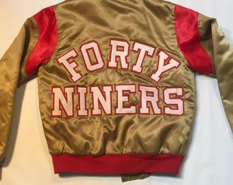 Chalkline 49ers jacket satin spellout San Francisco small