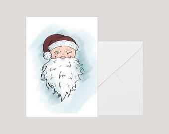 Printable Christmas Card | Greeting Card | Holiday Card | | Xmas Card | A2 Card | Santa Christmas Card | Santa Clause Card | Card From Santa