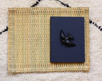 Set of 6 Wicker Place Mats  / handmade in Morocco