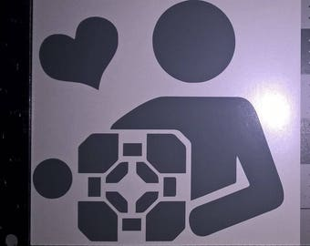 "5.5"" Weighted Cube Portal Love Vinyl Decal Car Window Wall Bumper JDM Applique"